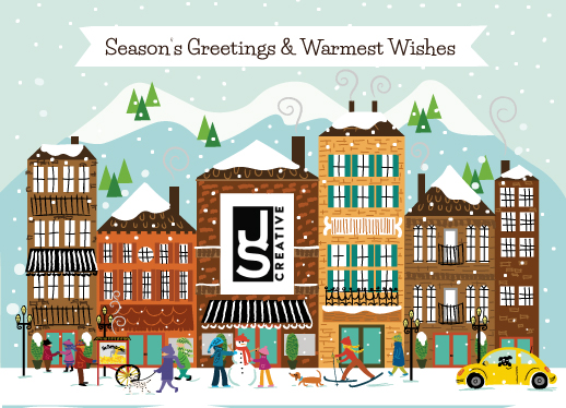 business holiday cards - Season's Greetings Corporate Card by Shelly Gerritsma