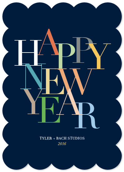 business holiday cards - Bright New Year by Kaydi Bishop