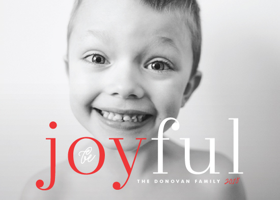 holiday photo cards - Joyfully Simple by Melanie Severin
