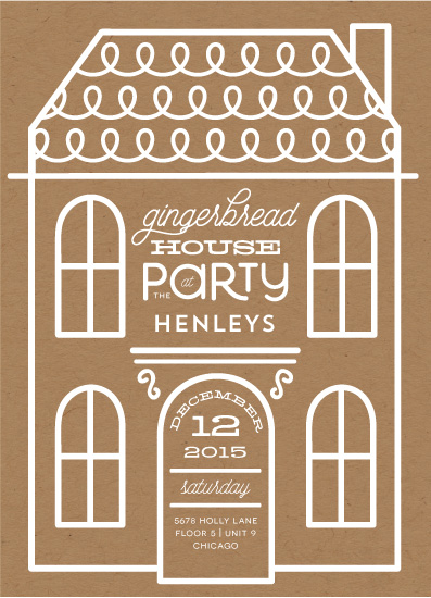 digital invitations - Gingerbread House Party by Baumbirdy