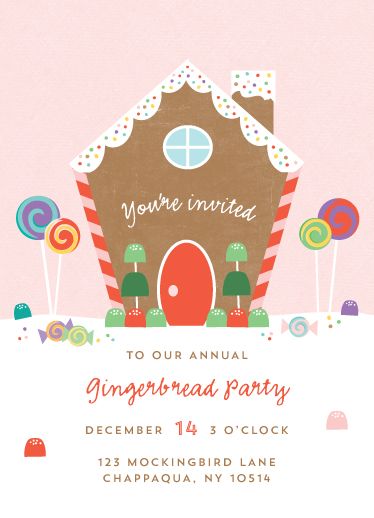 digital invitations - Gingerbread House by Anne Holmquist