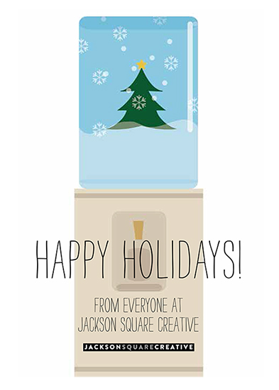 business holiday cards - Water Globe Card by Elaine Melko