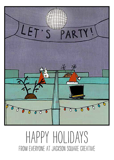 business holiday cards - holiday party by Elaine Melko