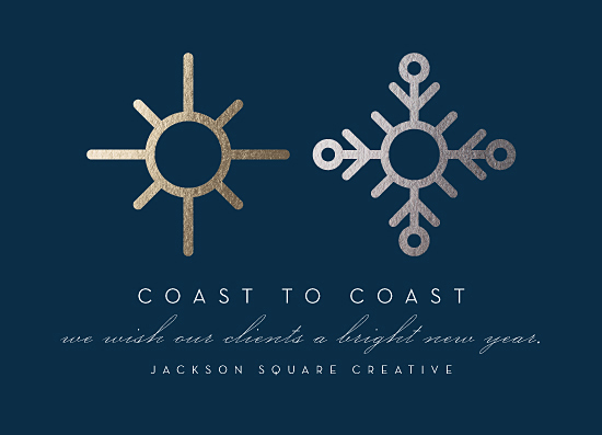 business holiday cards - Coast To Coast by three percent milk