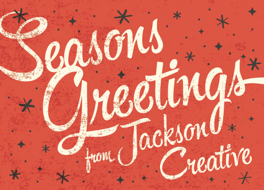 business holiday cards - vintage greeting by Kimberly Chow