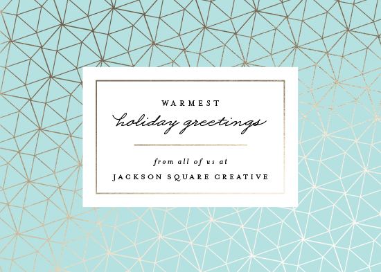 business holiday cards - Geo Frame by Kristie Kern