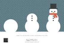 Snowman Building by Rebecca Casselman
