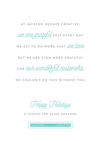business holiday cards - Thanks for Being Awesome by Genna Cowsert