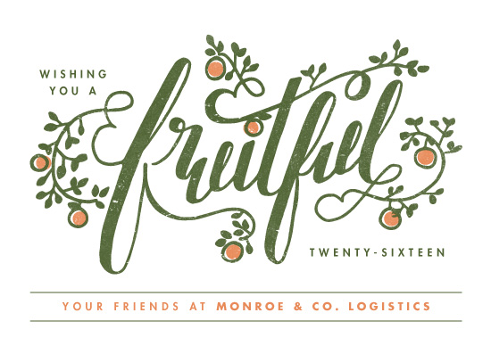 business holiday cards - Fruitful by Snow and Ivy