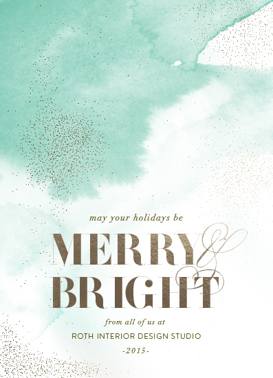 business holiday cards - airy watercolor by Aspacia Kusulas