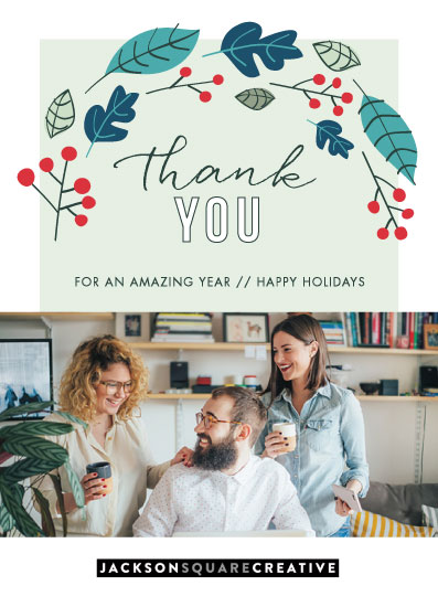 business holiday cards - Berry Thank You by Rachel Buchholz