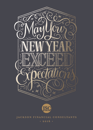 business holiday cards - Exceed Expectations by Laura Bolter Design