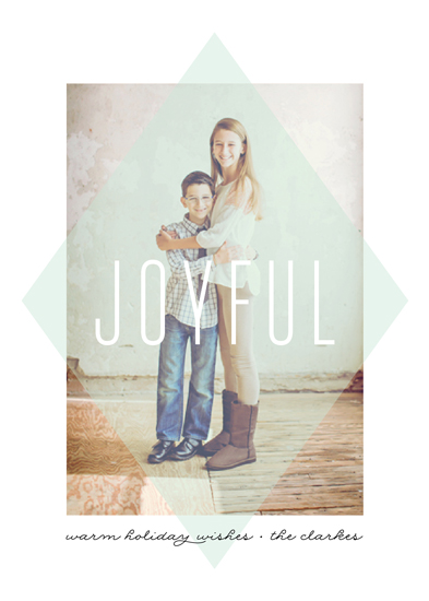 holiday photo cards - Elegant Joy by Erica Krystek