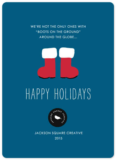 business holiday cards - Boots on the Ground by Kim Dietrich Elam