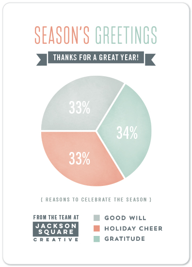 Business holiday cards holiday pie chart by hooray creative