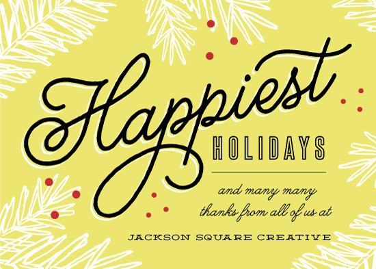 business holiday cards - Happiest Holiday Wishes by Kelly Schmidt