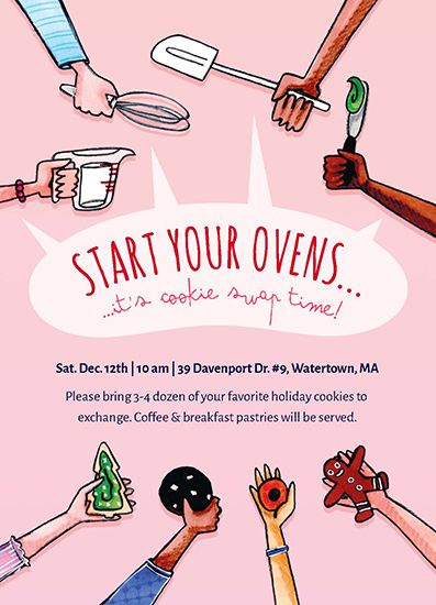 digital invitations - Start Your Ovens by Erin Perry