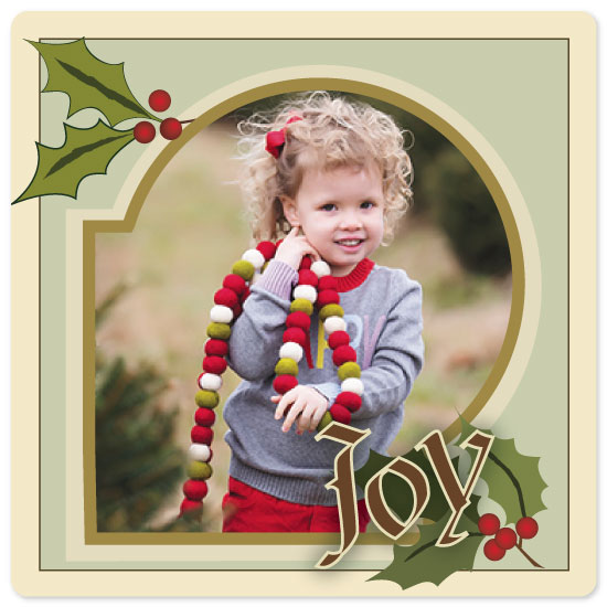 holiday photo cards - Greetings of JOY by Laura Lea