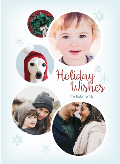 holiday photo cards - Circles and Snowflakes by Amy Pierrson