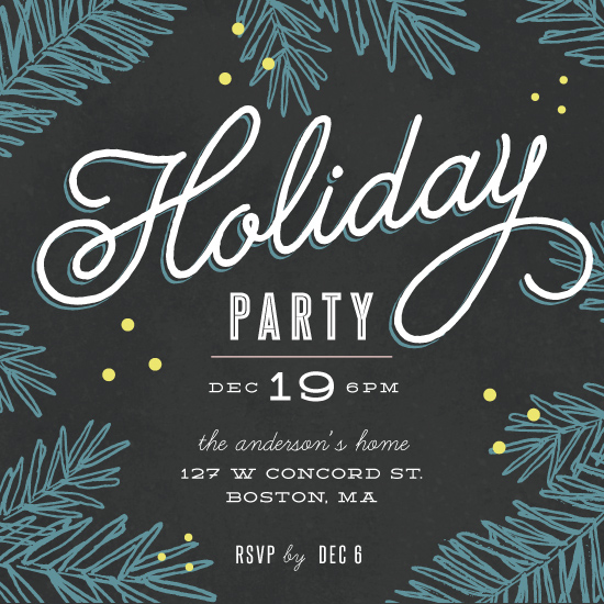 digital invitations - Happiest Holiday Party by Kelly Schmidt