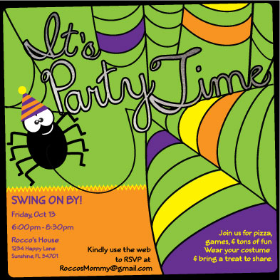 digital invitations - Web Designer Party by frances barra