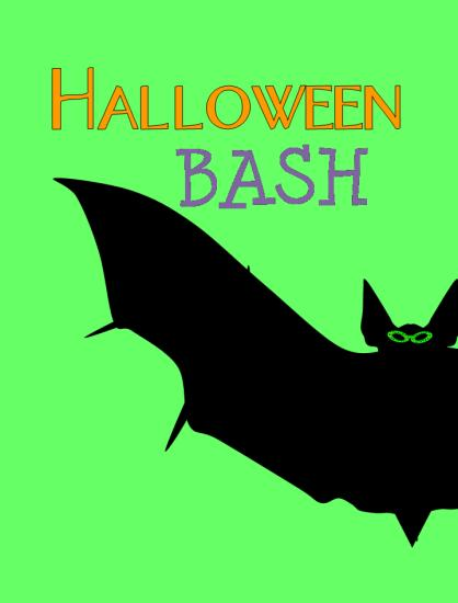 digital invitations - Halloween Bash by Up The Creek Press