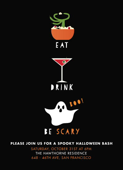 digital invitations - Eat, Drink, Be Scary by Sara Showalter
