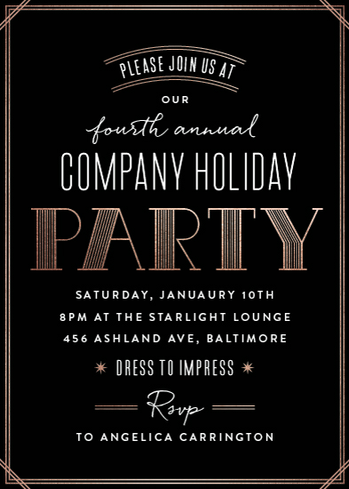 digital invitations - Deco Flair by Hooray Creative
