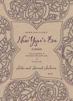 New Year's Eve Mandala