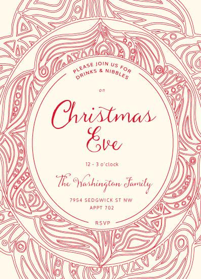 digital invitations - Christmas Eve Mandala by Jan Shepherd