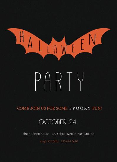 digital invitations - Halloween Bat by Amanda Majorsky