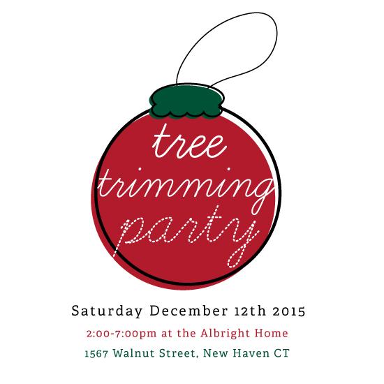 digital invitations - Tree Trimming Party by Amanda Majorsky