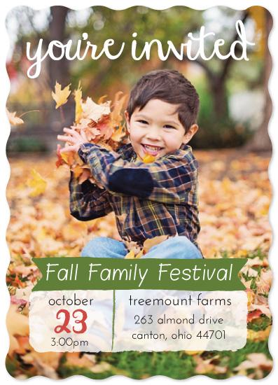 digital invitations - Fall Family Festival by Amanda Majorsky