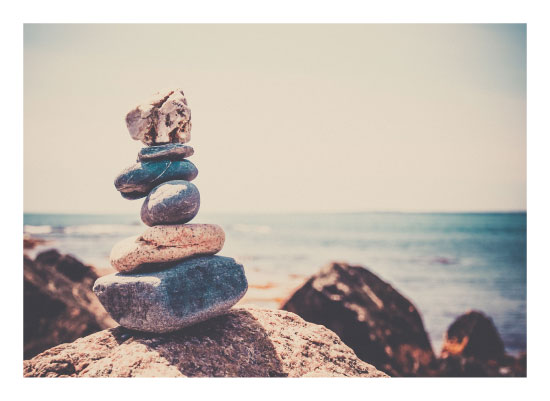 art prints - Cairn at the Shore by Jenny Folman