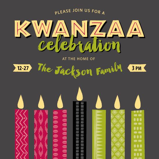 digital invitations - Kwanzaa Celebration by Maria Koontz