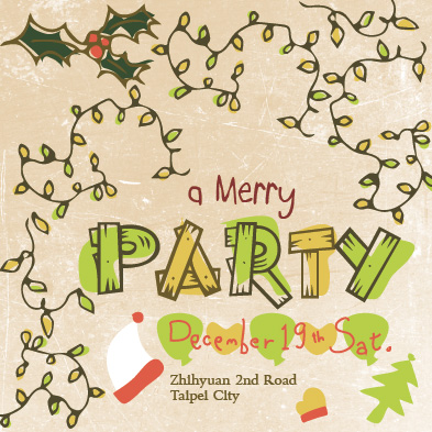 digital invitations - Merry Party by Anita Tsai