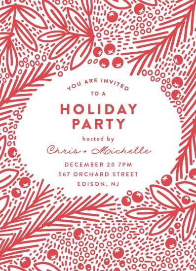 digital invitations - Snow Fall by Phrosne Ras
