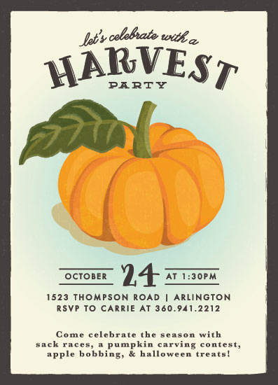 digital invitations - vintage pumpkin seeds by Karidy Walker