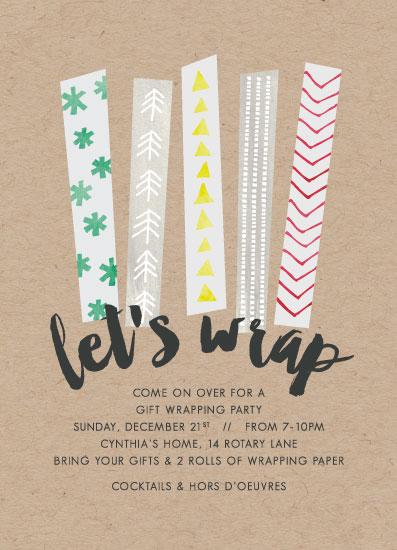 digital invitations - lets wrap by Jen Owens