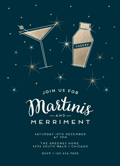 digital invitations - It's Martini Time! by Bethan