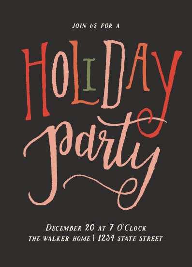 digital invitations - Hand Lettered Holiday by Grace Kreinbrink