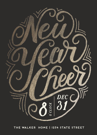 digital invitations - New Year Geo by Grace Kreinbrink