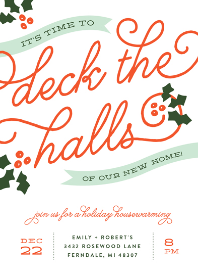 digital invitations - Boughs of Holly by Genna Cowsert