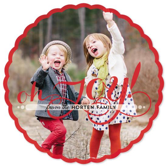 holiday photo cards - Oh Joy, Oh Joy! by Antares
