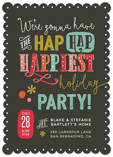 digital invitations - Hap Hap Happiest by Stacy Kron