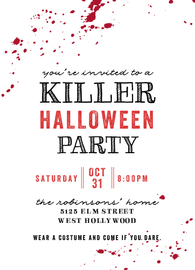 digital invitations - A Killer Party by Shirley Lin Schneider