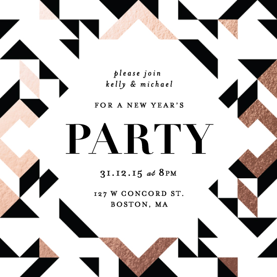 digital invitations - Geometric Holiday Party by Kelly Schmidt