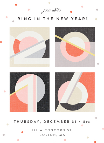 digital invitations - Geometric Numerals by Kelly Schmidt