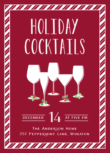 digital invitations - Holiday Cocktail Party by Melissa Casey