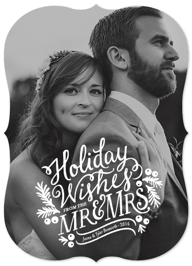 holiday photo cards - Mr. & Mrs. by Mandy Rider
